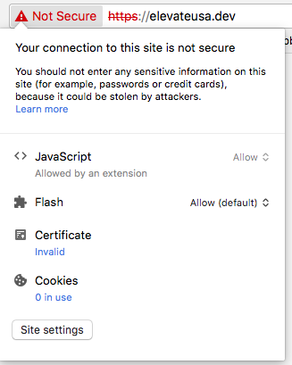 All Local Flywheel Sites Invalid Certificates And Privacy Error