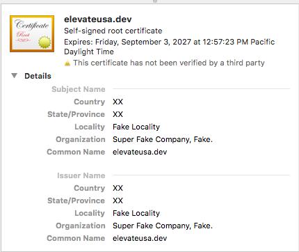 Chrome Failed Bad Certificate