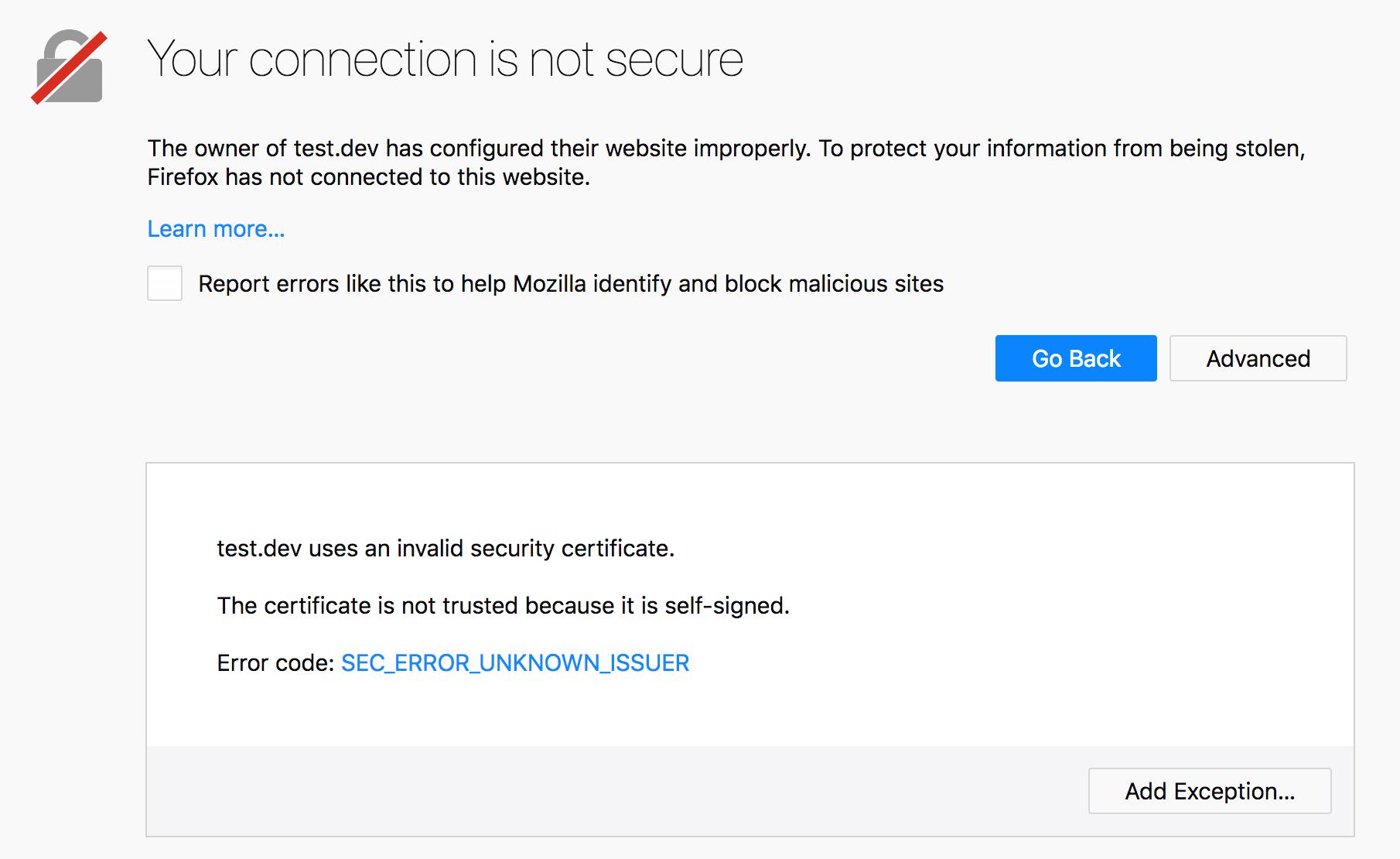 Ssl Firefox Dev Edition Issues Support Local By Flywheel