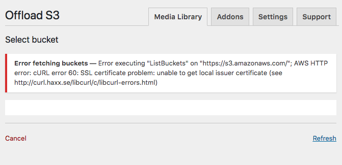 Potential cURL or SSL error - Support - Local by Flywheel